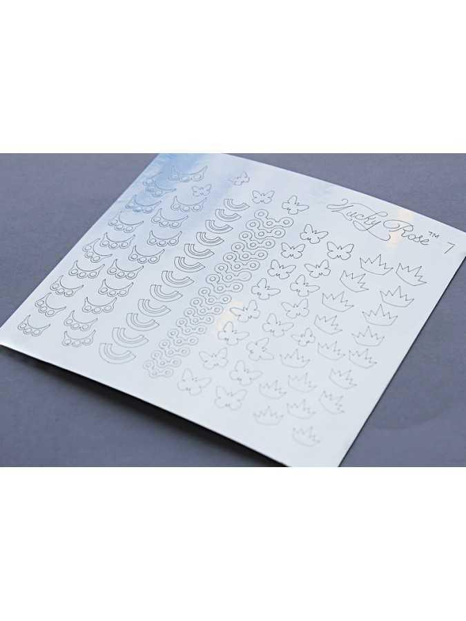 Металлизированные наклейки Lucky Rose 2 серебро