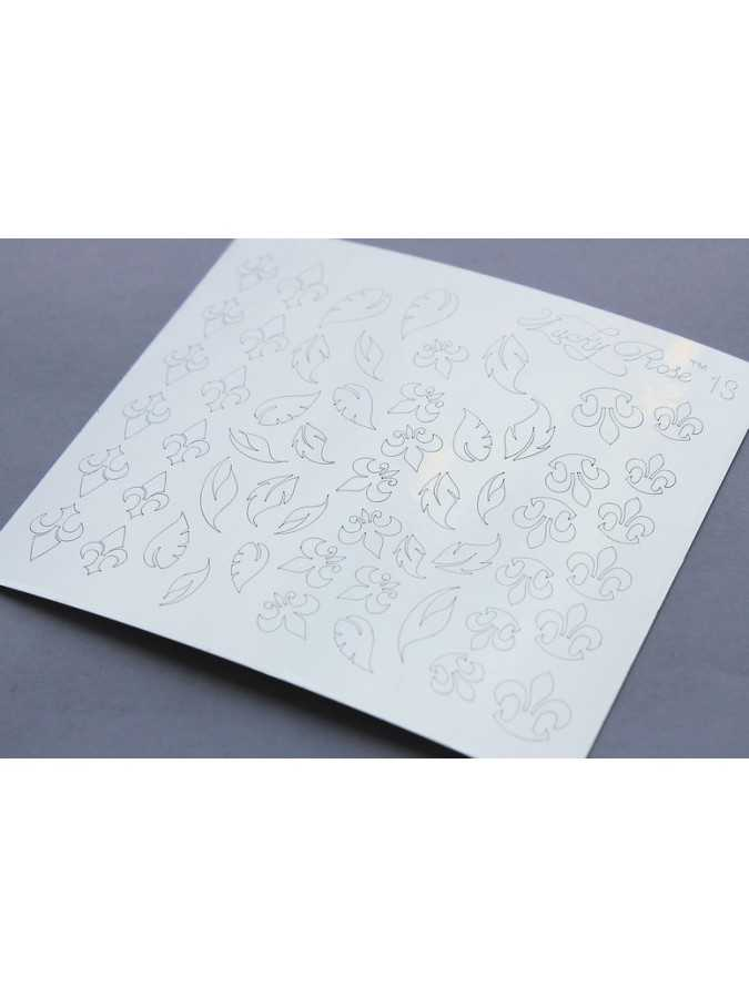 Металлизированные наклейки Lucky Rose 9 серебро
