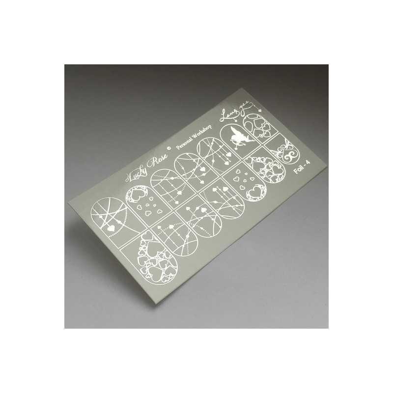 Фольгированный слайдер дизайн прозрачная пленка Foll 03 Серебро