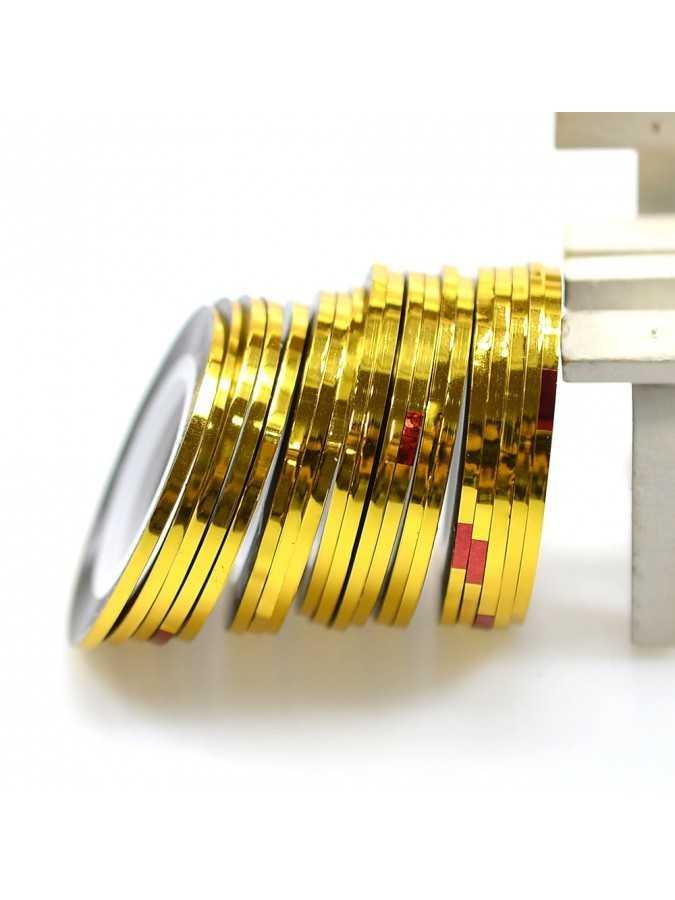 Скотч для маникюра золото 3 мм