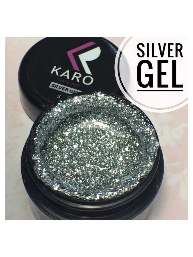 Гель-блестки Silver Gel KARO