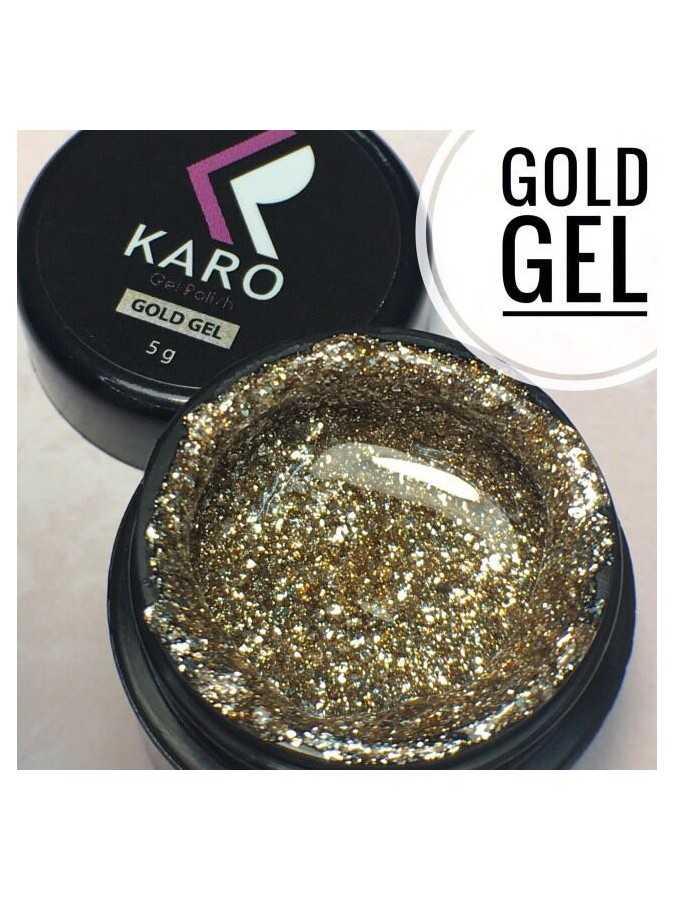 Гель-блестки Gold Gel KARO