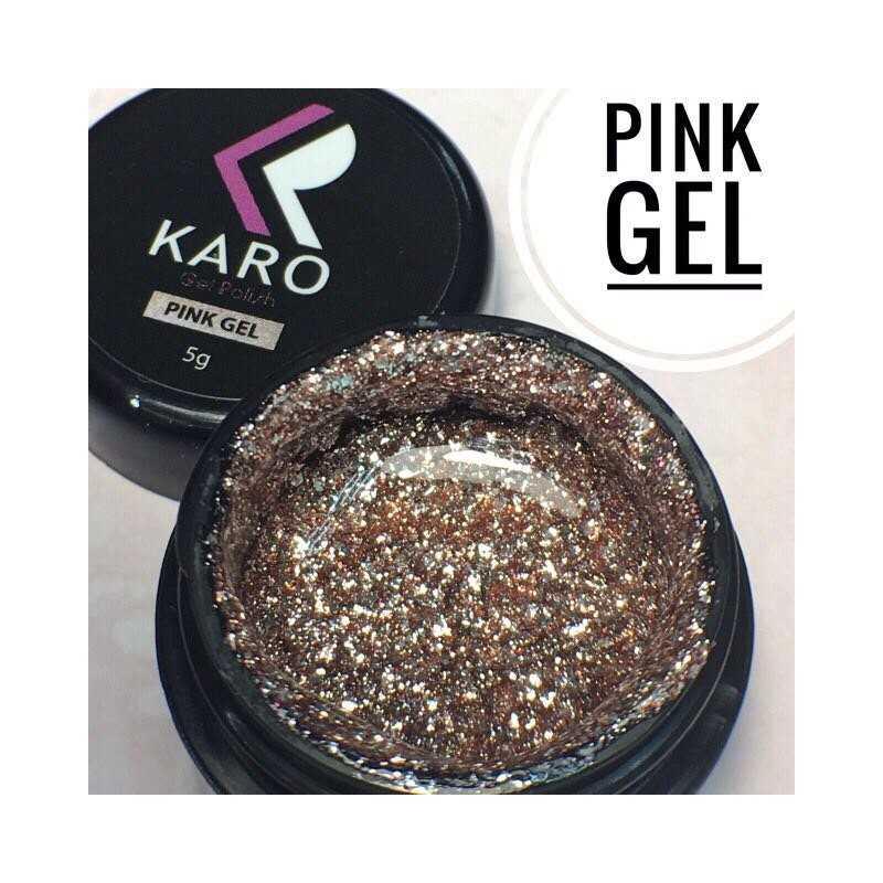 Гель-блестки Pink Gel KARO
