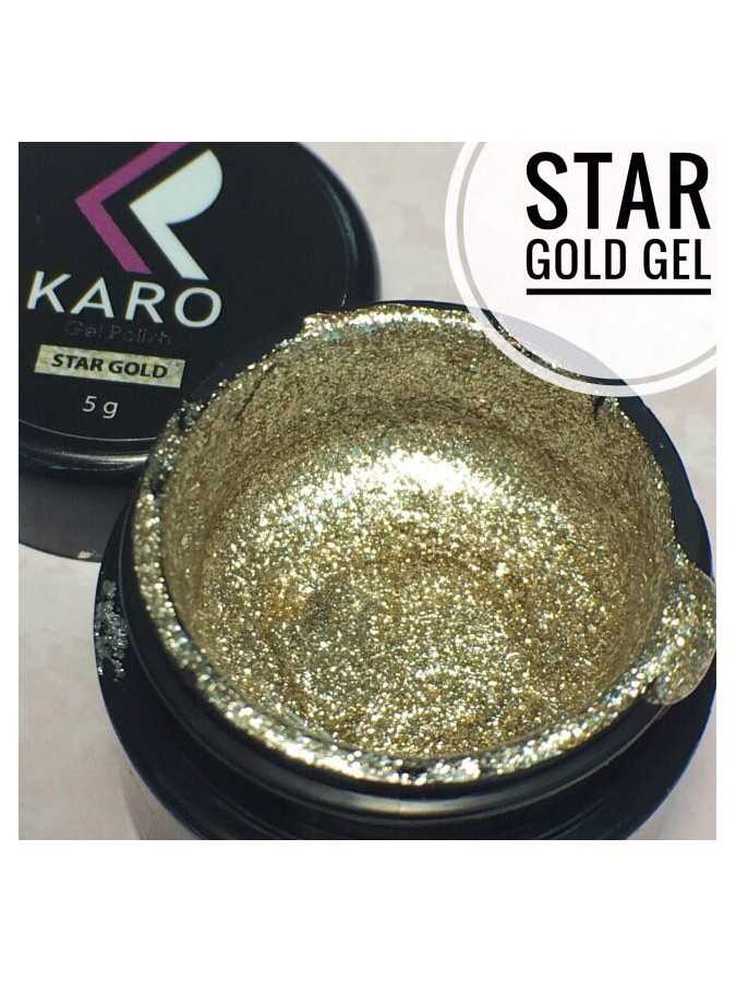 Гель-блестки Star Gold Gel KARO