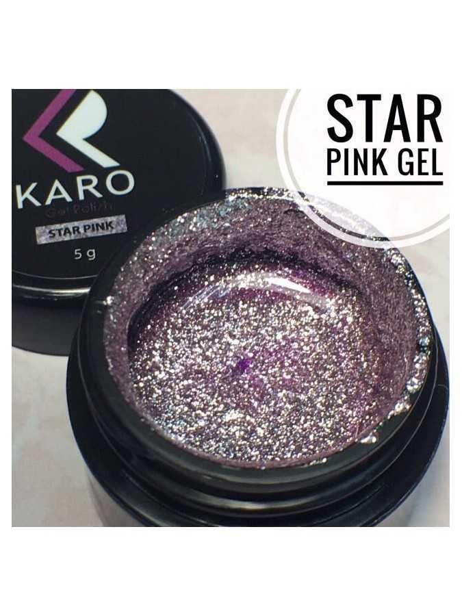 Гель-блестки Star Pink Gel KARO