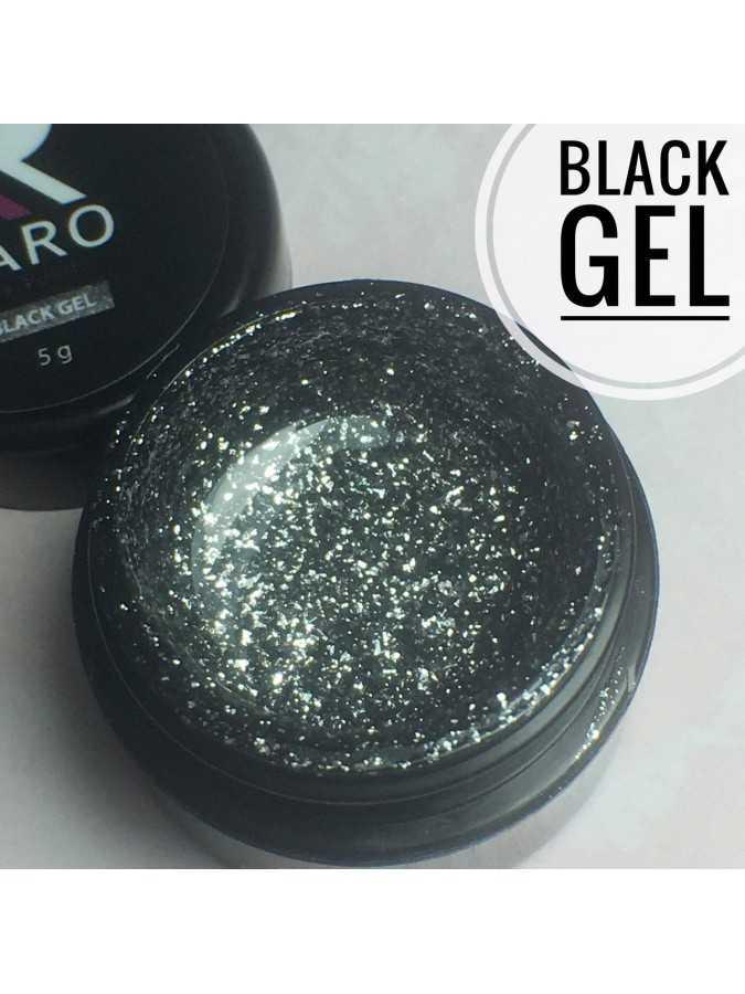 Гель-блестки Black Gel KARO