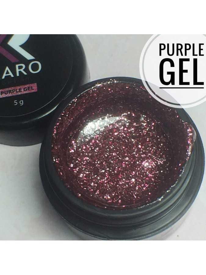 Гель-блестки Purple Gel KARO
