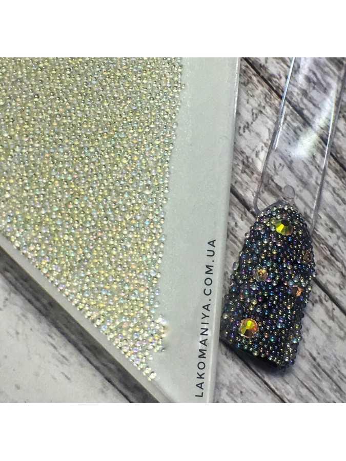 Бульонки стекло прозрачные радужные АВ (4г) 0,6 мм