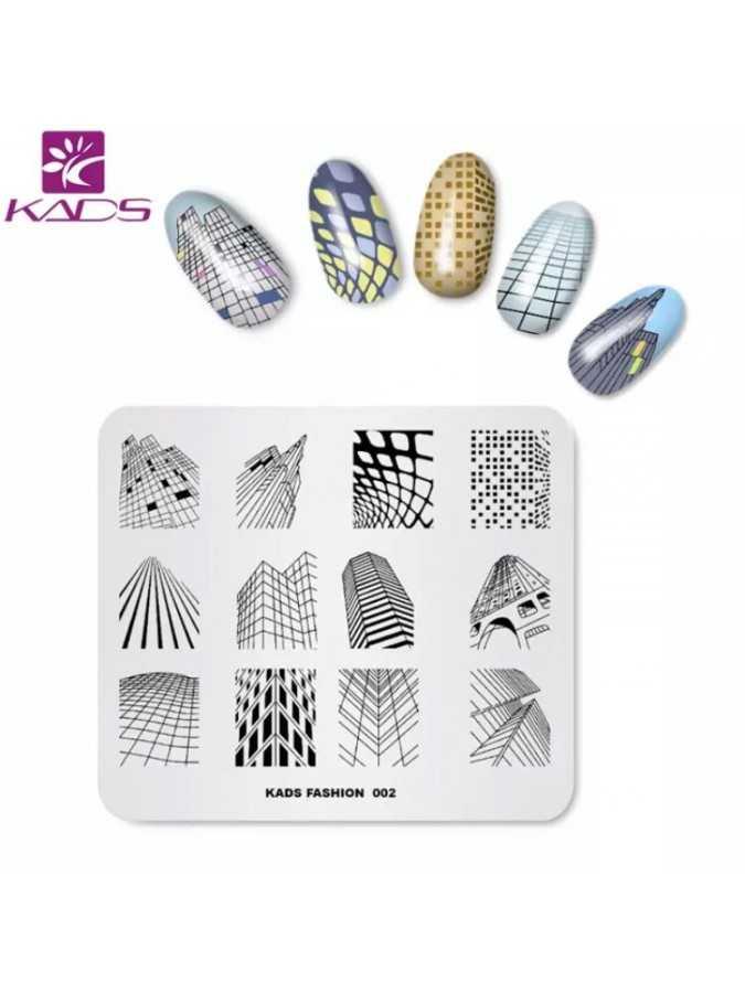 Пластина для стемпинга KADS Fashion 002
