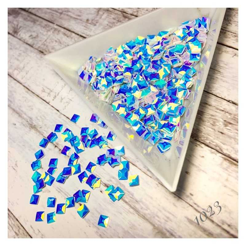 Квадраты 3D голубой хамелеон 1023