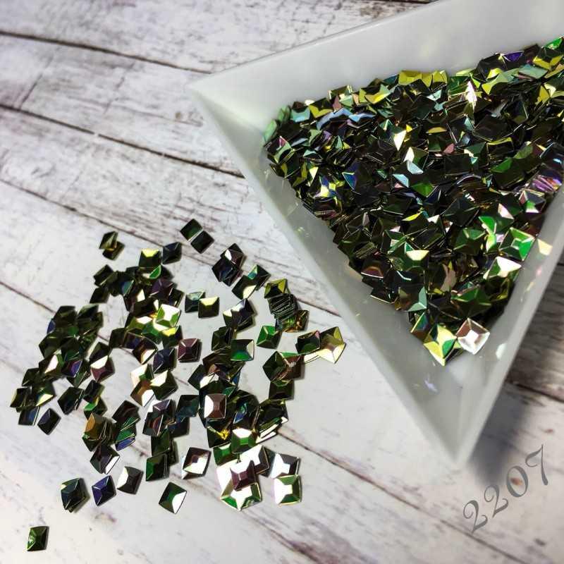 Квадраты 3D зеленый хамелеон 2207
