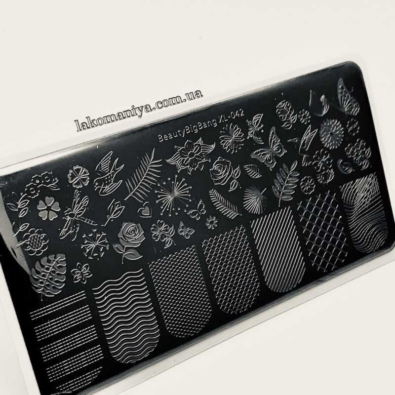 Пластина для стемпинга Beauty Bigbang XL-042
